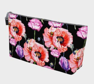 Poppy Fields Makeup Bag in Black preview