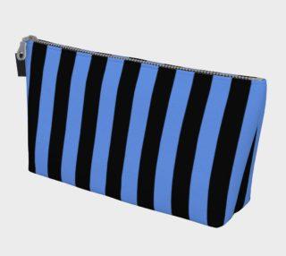 Aperçu de Black and Cornflower Blue Stripes