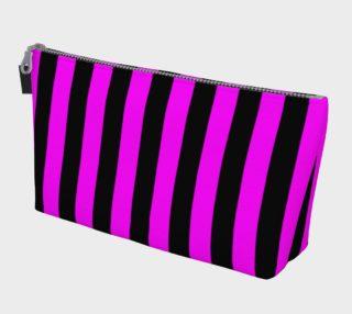 Aperçu de Black and Magenta Pink Stripes