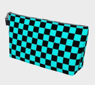 Aperçu de Black and Aqua Blue Checkerboard Squares