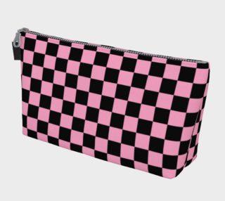 Aperçu de Black and Carnation Pink Checkerboard Squares