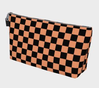 Black and Peach Checkerboard Squares preview