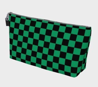 Aperçu de Black and Shamrock Green Checkerboard Squares