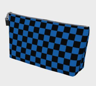 Aperçu de Black and Turquoise Blue Checkerboard Squares