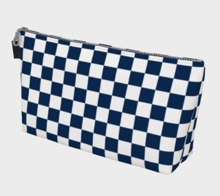 Aperçu de Navy Blue and White Checkerboard Squares