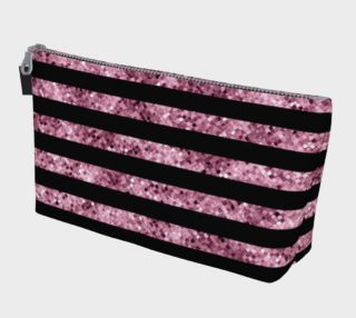 Pink and Black Glitter Sequin Stripes preview