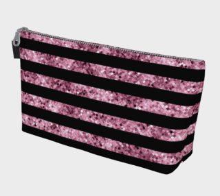 Pink and Black Glitter Sequin Stripes aperçu