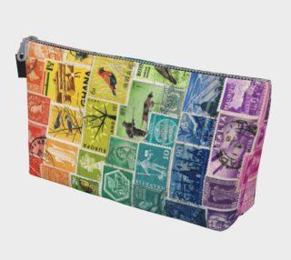Aperçu de Rainbow Postage Stamp Makeup Bag