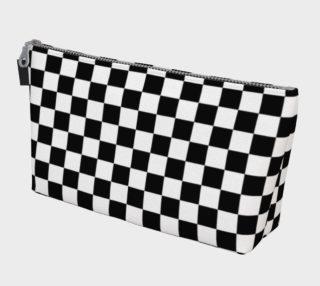 Black White Checker Board Pattern Makeup Bag preview