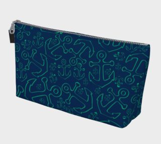 Anchor Dream - Green on Navy preview