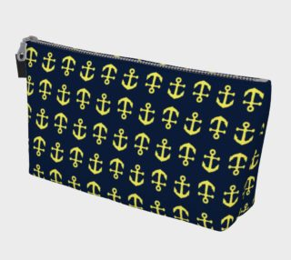 Anchor Toss - Yellow on Navy preview