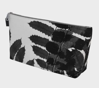 Aperçu de Black and White Leaf Makeup Bag
