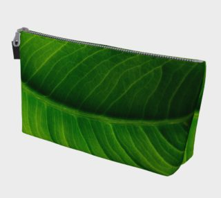 Green Elephant Ear Leaf Makeup Bag preview