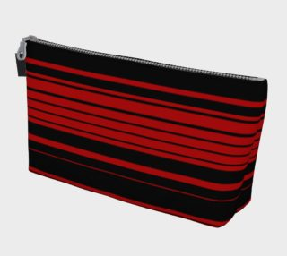 Three Red Stripes You're Out Makeup Bag preview