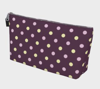 Purple Polka Dots Makeup Bag preview
