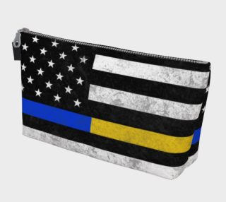 Thin Blue Line Thin Gold Line Makeup Bag preview