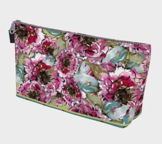 Aperçu de Floral Pink Peony Make up Bag