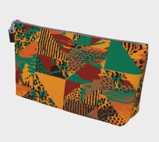Abstract Safari Print Makeup Bag preview