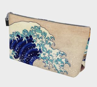 Katsushika Hokusai The Great Wave Off Kanagawa Makeup Bag preview