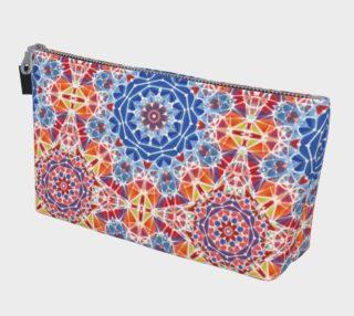 Blue and Orange Kaleidoscope Makeup Bag preview