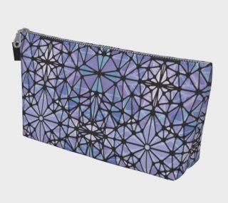 Purple and Blue Kaleidoscope Makeup Bag preview