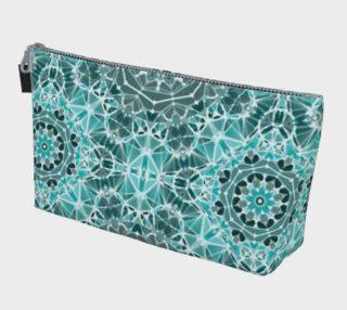 Turquoise & Gray Kaleidoscope Makeup Bag preview