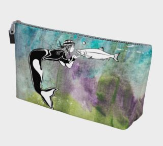Kissing mermaid makeup bag preview