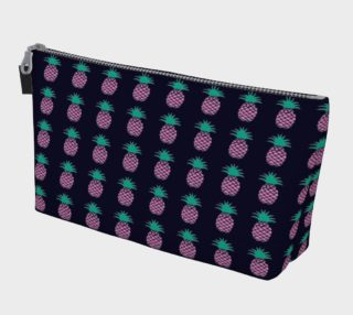 Pineapple - Pink and Green on Navy preview