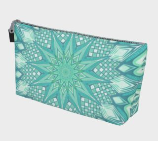 Burst Mandala Turquoise Make Up Bag preview