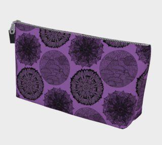 Zen Pattern Mandala Purple Makeup Bag aperçu