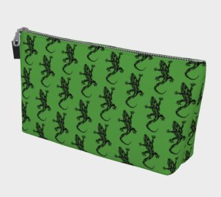 Green Gecko Pattern Makeup Bag preview