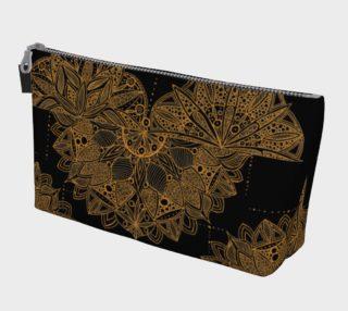 Golden Mandala Pattern Makeup Bag preview