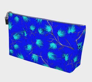Blue Floral Pattern Makeup Bag preview