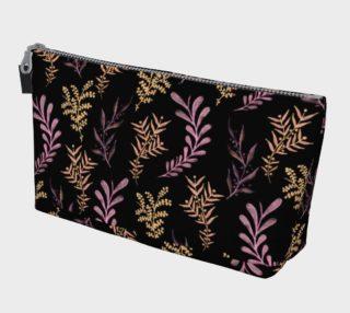 Bronze and Black Floral Pattern Makeup Bag preview