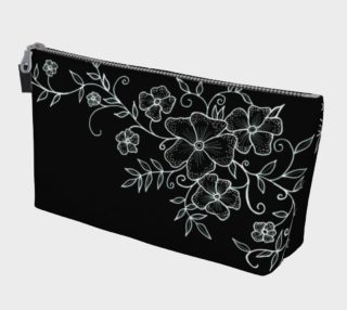 Black and White Floral Ornaments Makeup Bag preview