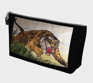 Flying Tiger Black Makeup Gear Bag with Pocket preview