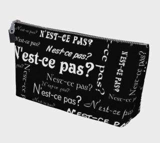 White N'est-ce Pas Makeup Bag preview