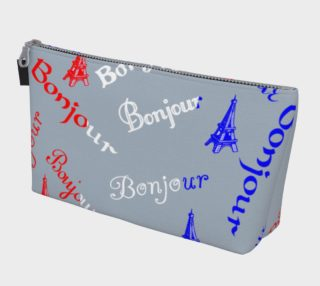 French Flag Bonjour Makeup Bag preview