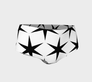 Mni Shorts in White with Black Stars preview