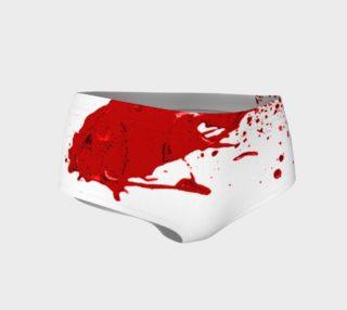 Blood Splatter First Cosplay Halloween Mini Shorts preview