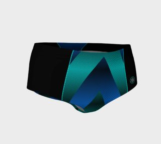 Ombre Stripe Black Blue Turquoise preview