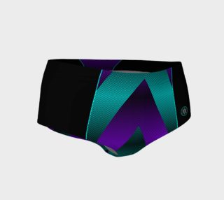 Ombre Stripe Black Turquoise Violet preview