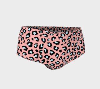 Leopard Print - Icy Peach Mini Shorts preview