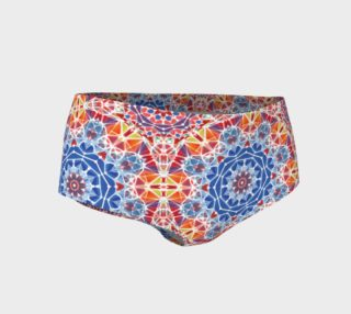 Blue and Orange Kaleidoscope Mini Shorts preview