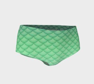 Green Mermaid Mini Shorts preview