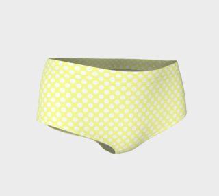Polka Dots Pattern-Yellow Mini Shorts preview