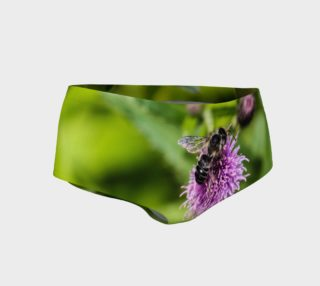Aperçu de A Bee on a Purple Flower Mini Shorts