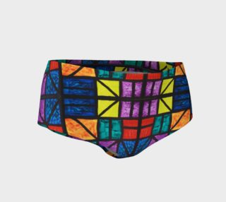 Detroit Stained Glass Mini Shorts preview