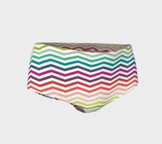 Chevron Disco Mini Shorts preview