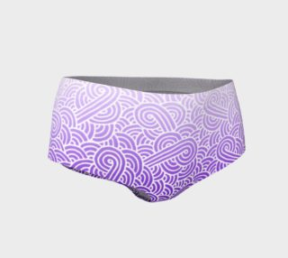 Ombre purple and white swirls doodles Mini Shorts preview